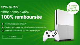 La FNAC propose un jeu en instant gagnant, pour vous rembourser intégralement l'achat de votre console Xbox One