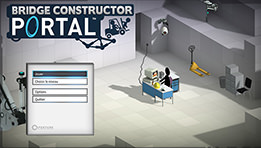 Test de Bridge Constructor Portal : un puzzle game surprenant