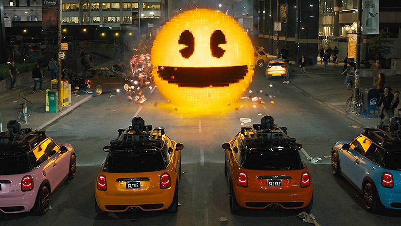 Une des scène culte du film avec Pac-Man