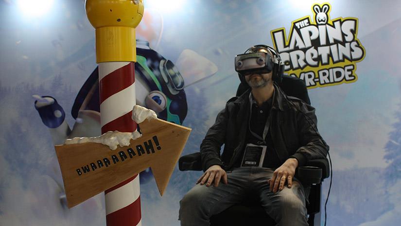 La réalité virtuelle avec Lapins Crétins d'Ubisoft