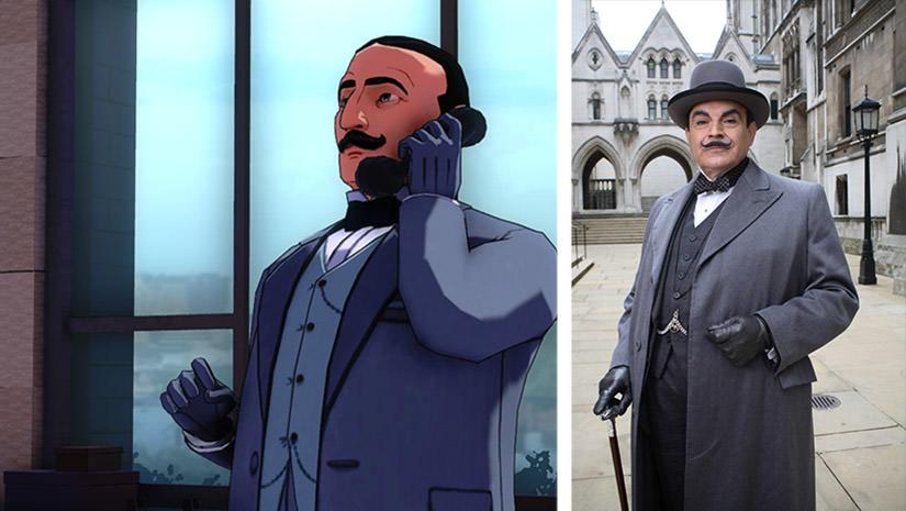 Hercule Poirot et David Suchet