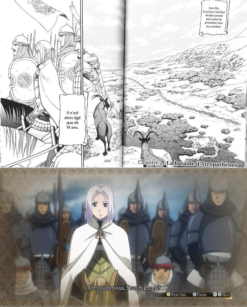 Comparaison entre le manga et le jeu vidéo