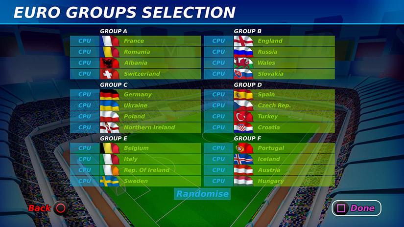 L'EURO 2016 dans Dino Dini's Kick Off Revival