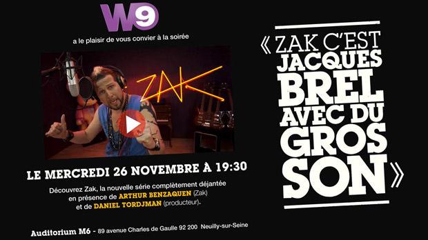 Avant-première de Zak, la série
