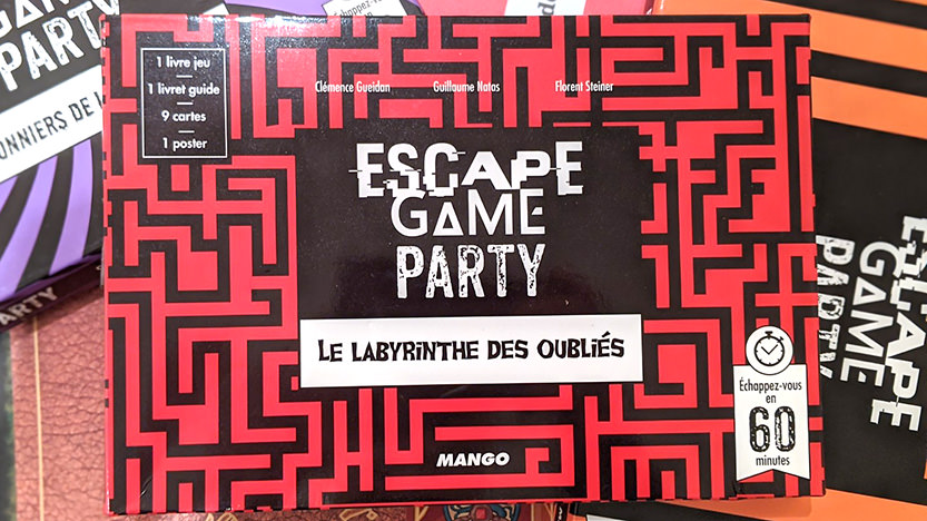 Les coffrets Escape Game Party chez Mango