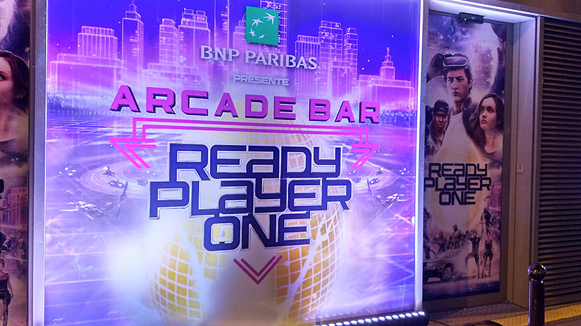 L'ARCADE BAR organisé par BNP Paribas pour Ready Player One