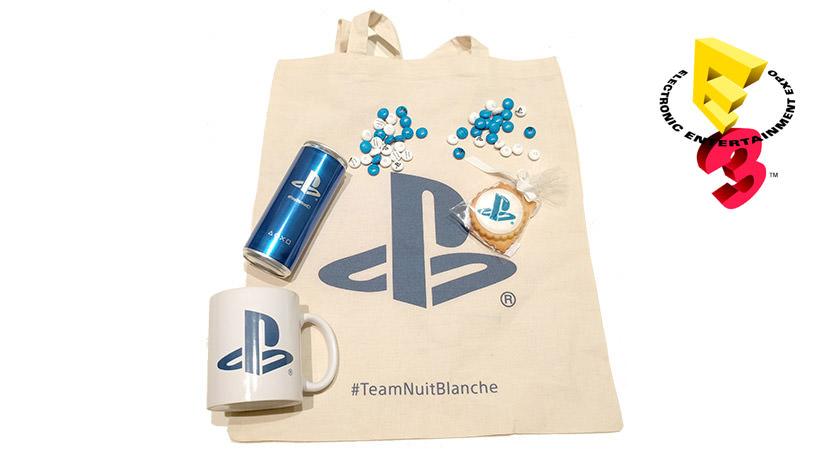 Le kit #TeamNuitBlanche pour suivre la conférence #PlayStationE3
