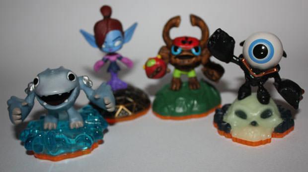 Les nouveaux mini Skylanders : Mini Jini, Barkley, Eye Small et Thumpling