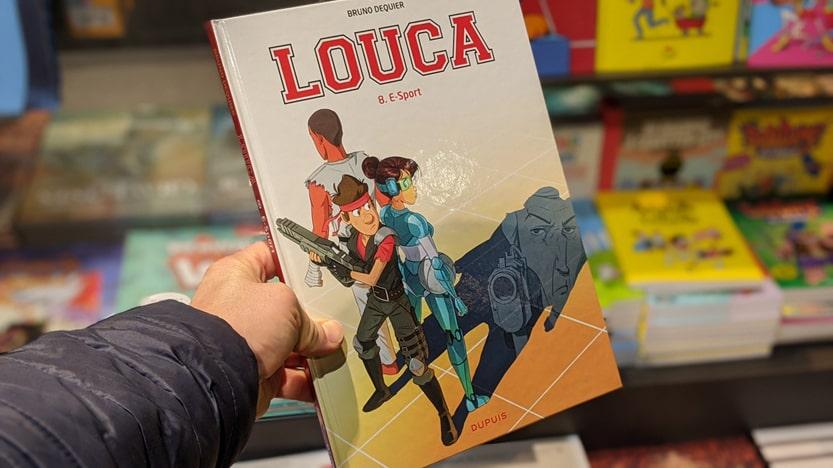 Louca participe à des compétitions e-sport dans le tome 8 de la BD éponyme