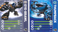 Skylanders Giants - Thumpback et Eye Brawl