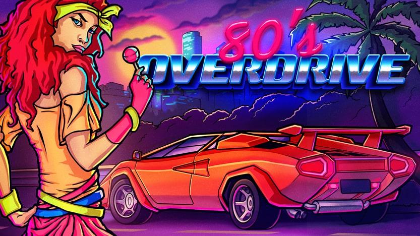 Test 80's Overdrive sur PC. Un jeu de course retro dans le style Out Run