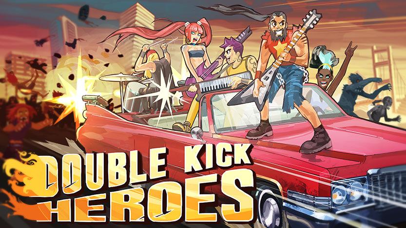 Test de Double Kick Heroes : le jeu Heavy Metal avec des zombies