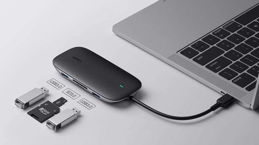 AUKEY USB C Hub 8 en 1 Adaptateur