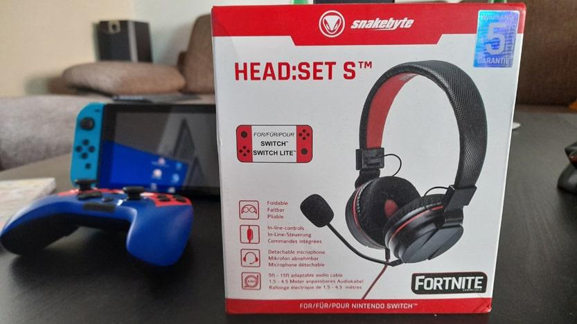 Test du casque gaming HEAD:SET S pour Nintendo Switch