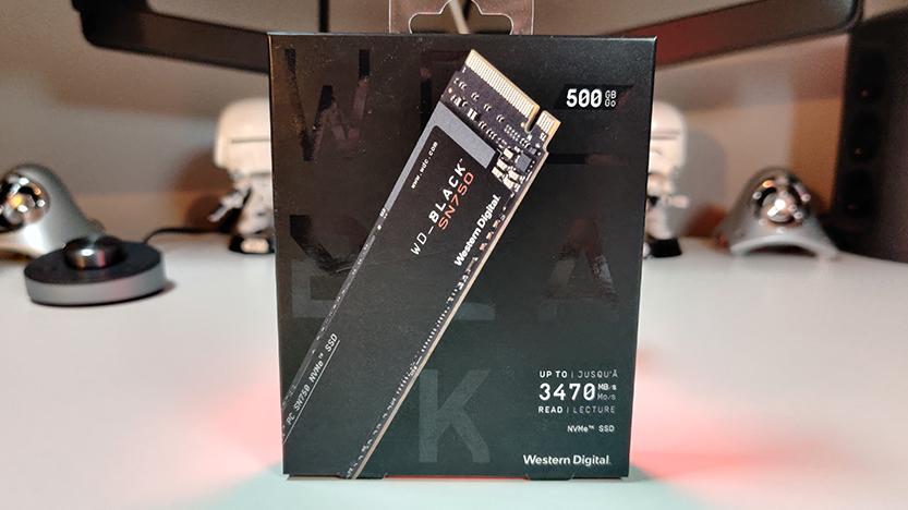 Test du disque dur interne SSD NVMe WD BLACK SN750 en version 500 Go