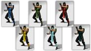 Tous les costumes Mortal Kombat