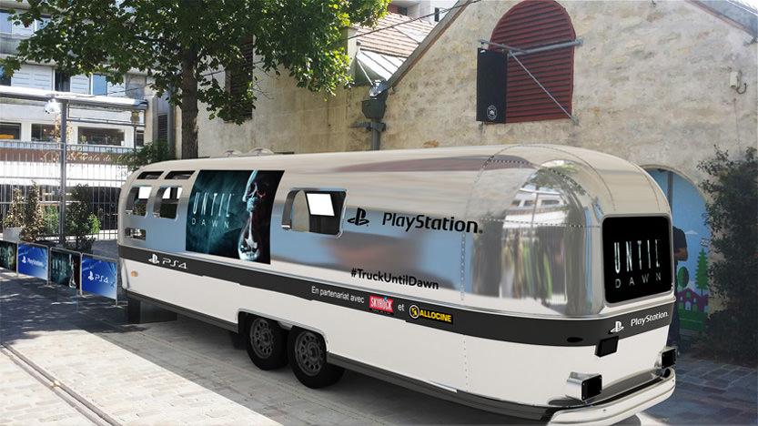 Fear Truck à Paris à l'occasion de la sortie du jeu Until Dawn sur PS4