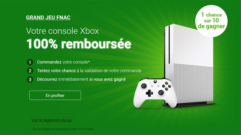 Votre console Xbox 100% remboursée avec la FNAC