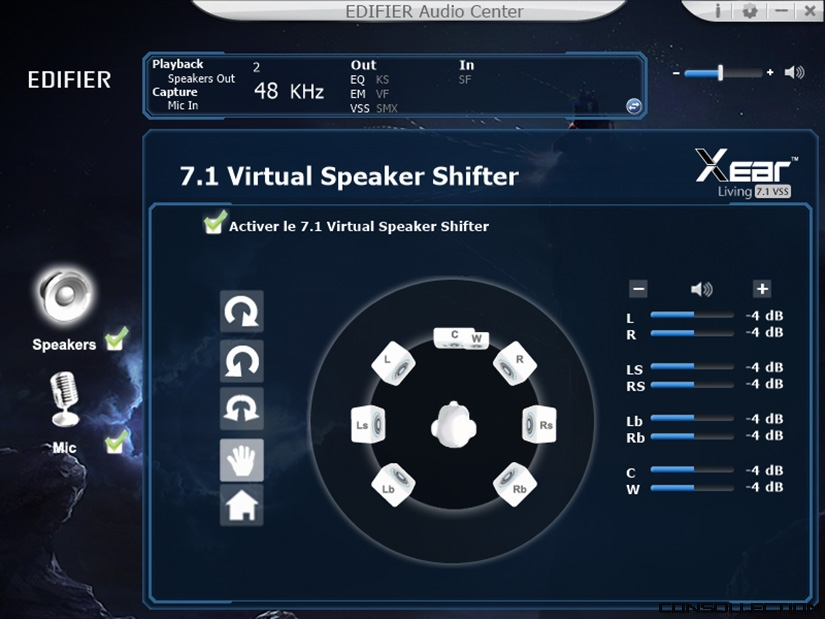 Edifier Audio Center - Virtual Speaker Shifter