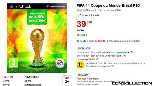 Fifa 14 coupe du monde br sil disponible 39 99 sur ps3 - Coupe du monde de la fifa bresil ps ...