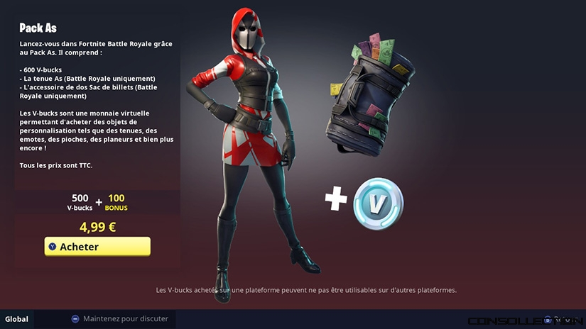 Fortnite saison 5 : Starter Pack As