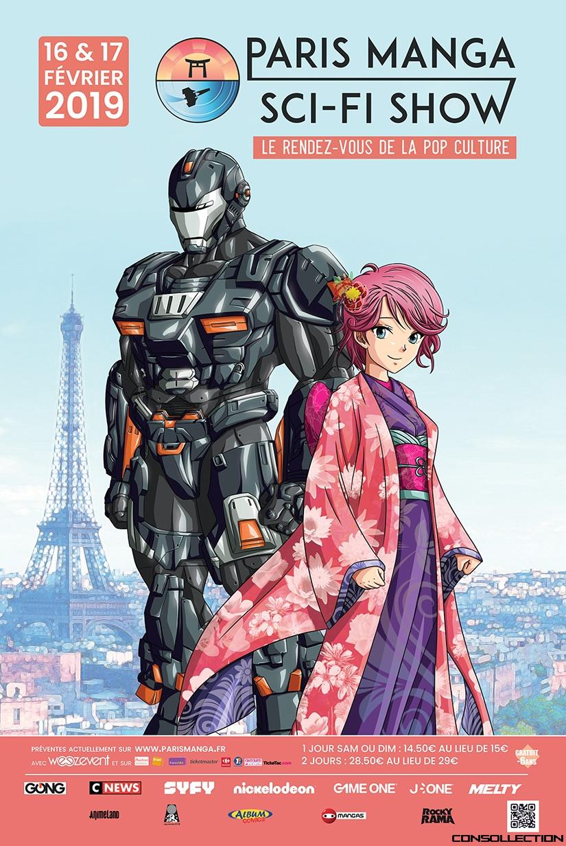 L'affiche de Paris Manga 2019