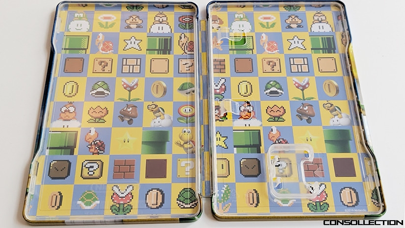 L´intérieur du steelbook Super Mario Maker 2