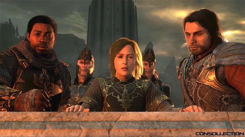 Le capitaine Baranor, le capitaine en second Idril et Talion