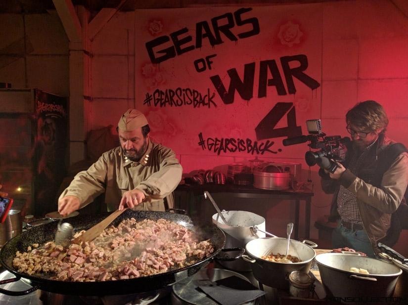 Le chef Yves Camdeborde à la soirée Gears of War 4
