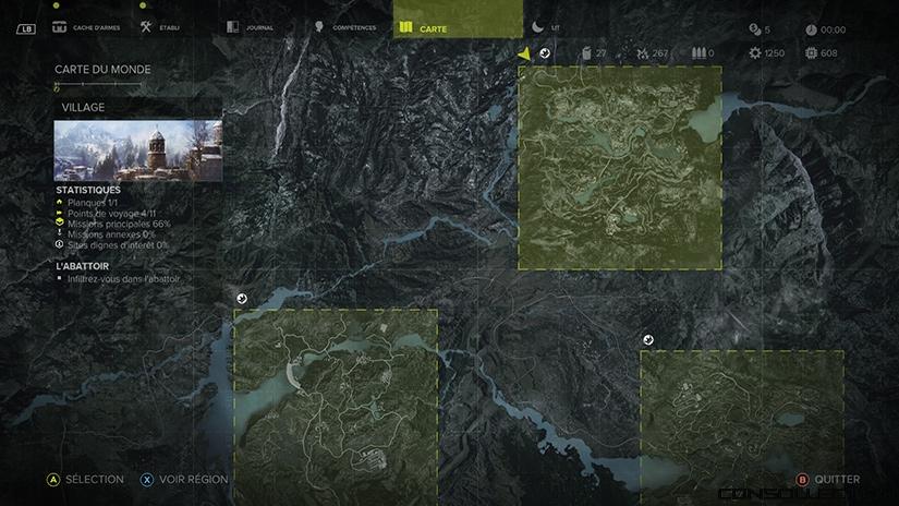 Les cartes de Sniper Ghost Warrior 3