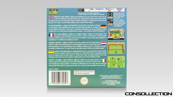 Mario Power Tennis : Cover back