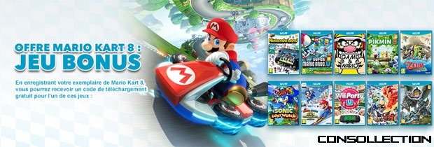 offre mario kart 8 jeu bonus bons plans. Black Bedroom Furniture Sets. Home Design Ideas