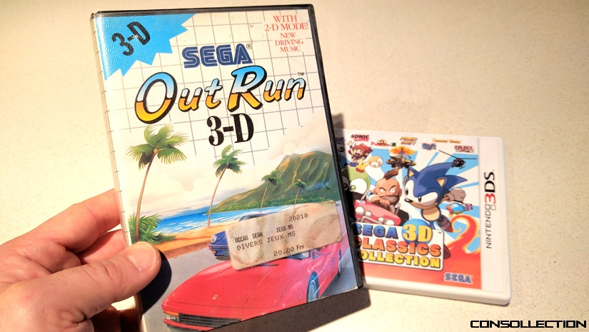Out Run 3-D sur Sega Master System