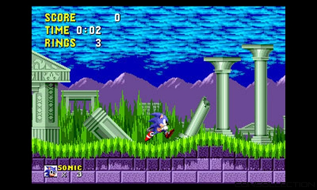 Sonic dans Sega 3D Classic Collection