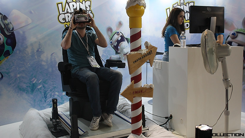 The Lapins Crétins VR-Ride à la Paris Games Week