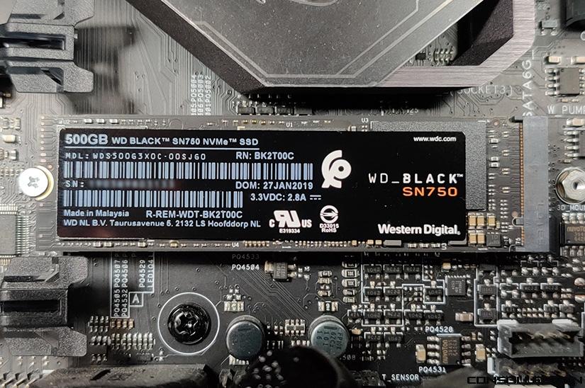 WD_BLACK SN750 installé